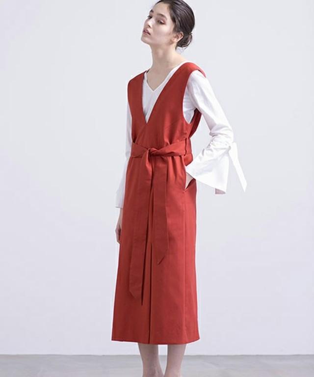 2重織Vネックジャンパースカート