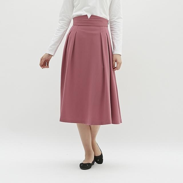 ハイウエストフレアミディスカート