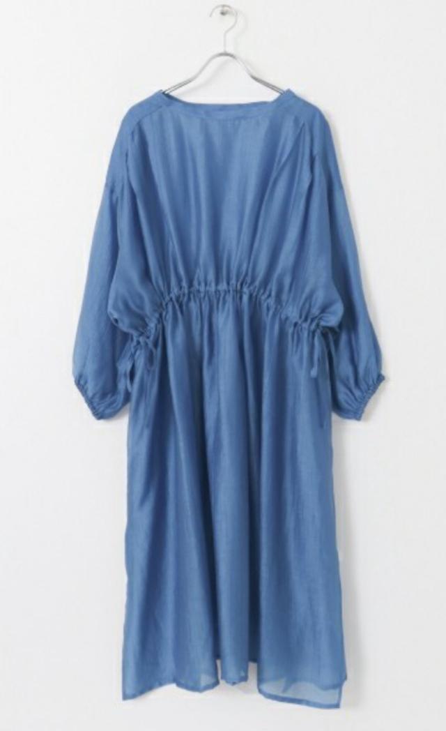 サイドスリットギャザードレス
