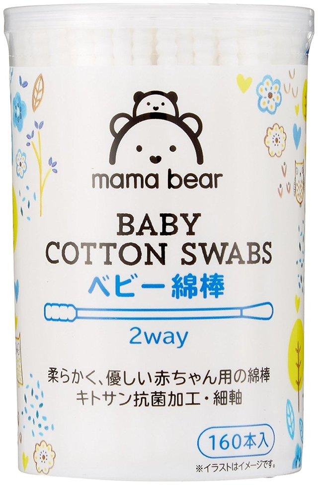 Mama Bear ベビー綿棒 2way 160本x6個