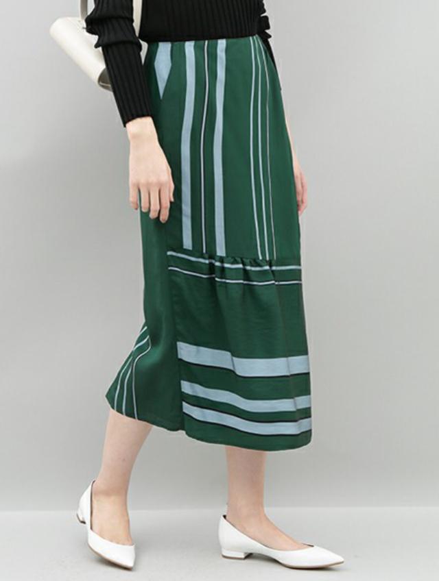 MANTECOストライプスカート