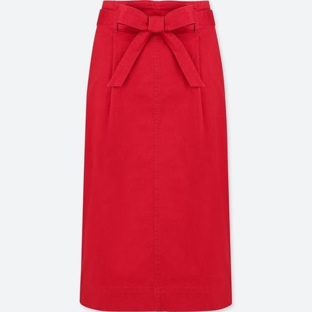 ハイウエストベルテッドナロースカート(丈標準70~72cm)