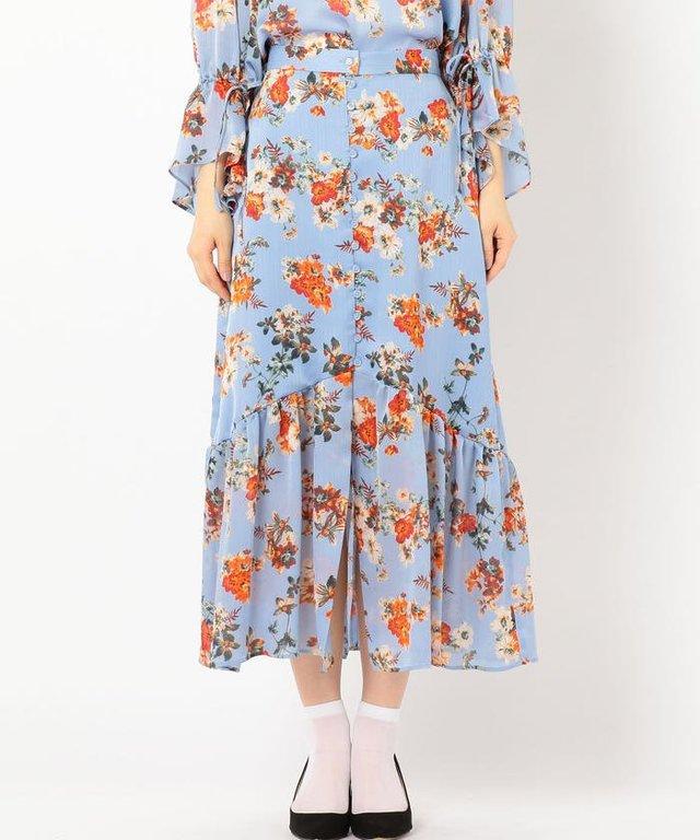 Khaju フラワーオープンスカート