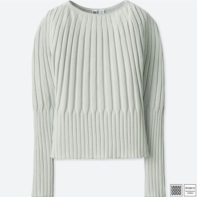 3Dリブバルーンクルーネックセーター(長袖)+E