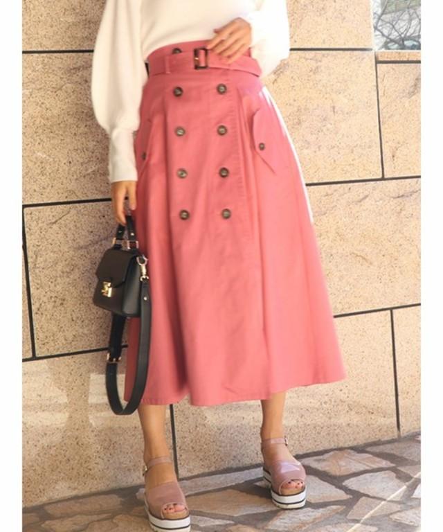 トレンチライクマキシスカート