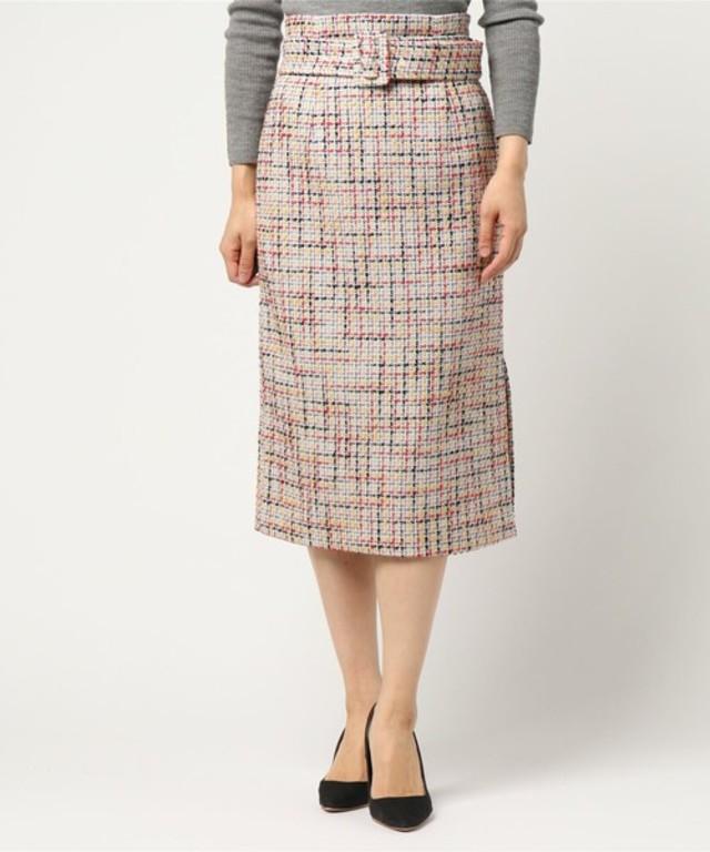 ツィードチェックタイトスカート
