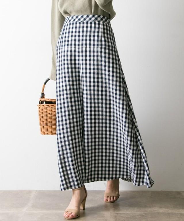 ギンガムチェックマーメイドスカート