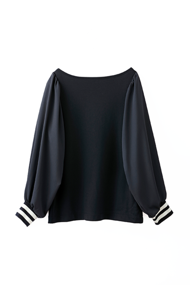 TR double jersey pullover blouse