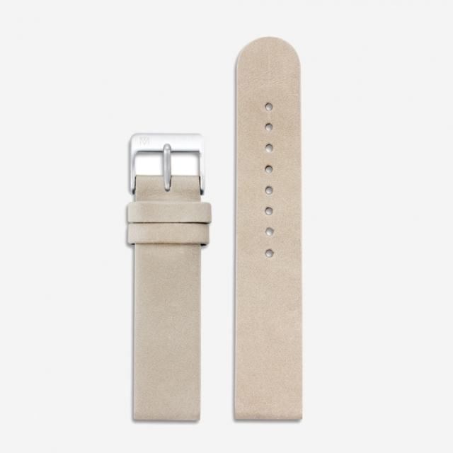 CAMEL LEATHER 20mm (SILVER)