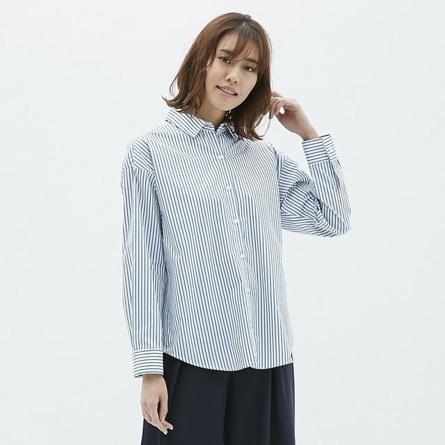 2WAYストライプオーバーサイズシャツ