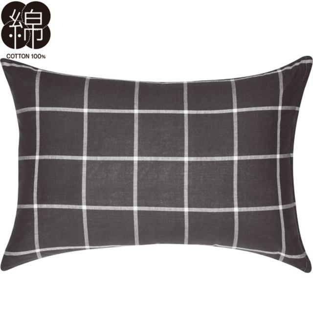 枕カバー(ウィンドウペンGY)