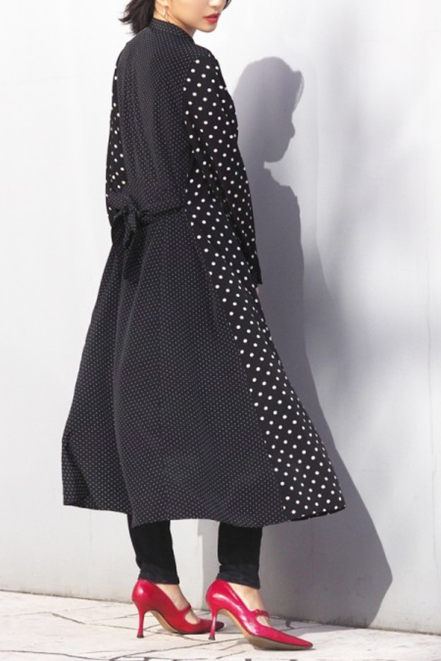 Combination dot gown dress