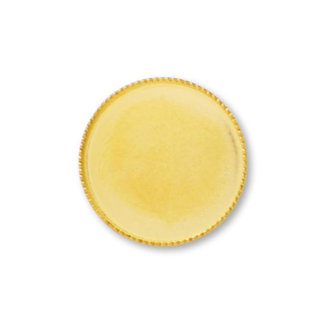 ミール皿 カン無(丸) ゴールド 内径約10mm 2個