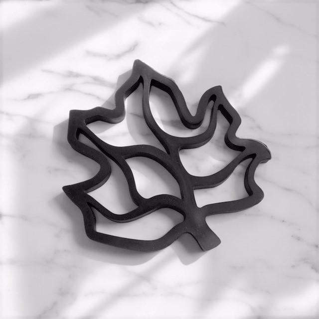 leaf シリコン 鍋敷き