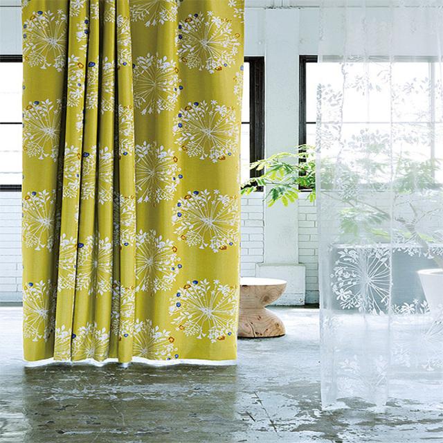 北欧調花柄遮光カーテン(100×178・1枚)
