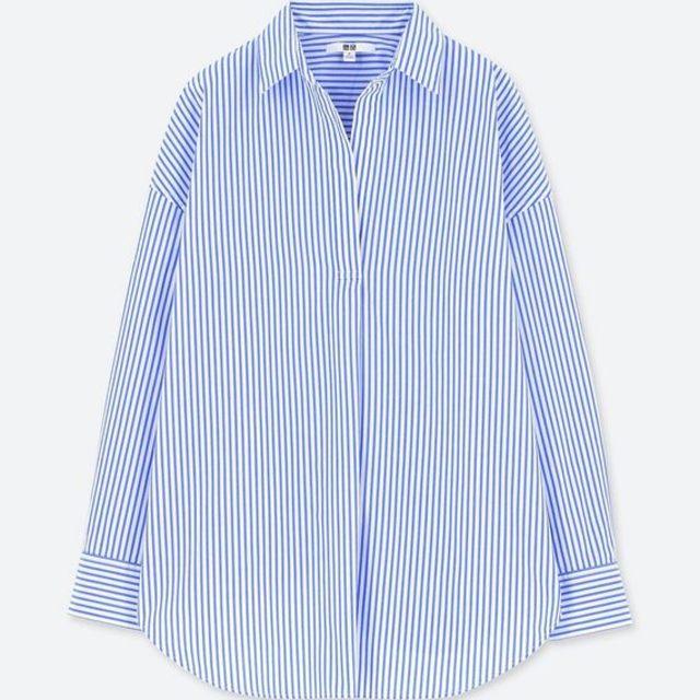 エクストラファインコットンストライプシャツ(長袖)