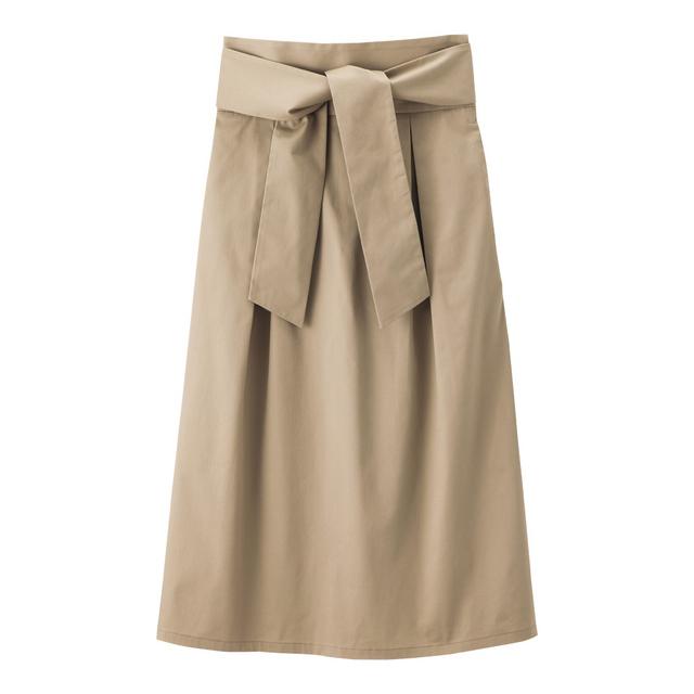 チノベルト付きハイウエストスカート