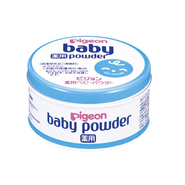 バビーパウダー 薬用・ブルー缶