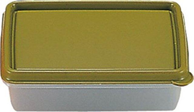 ダロプラスト 保存容器 スクエアストレージコンテナ 0.5L オリーブ