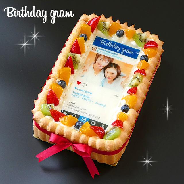 生クリームのショートケーキインスタ風写真ケーキ
