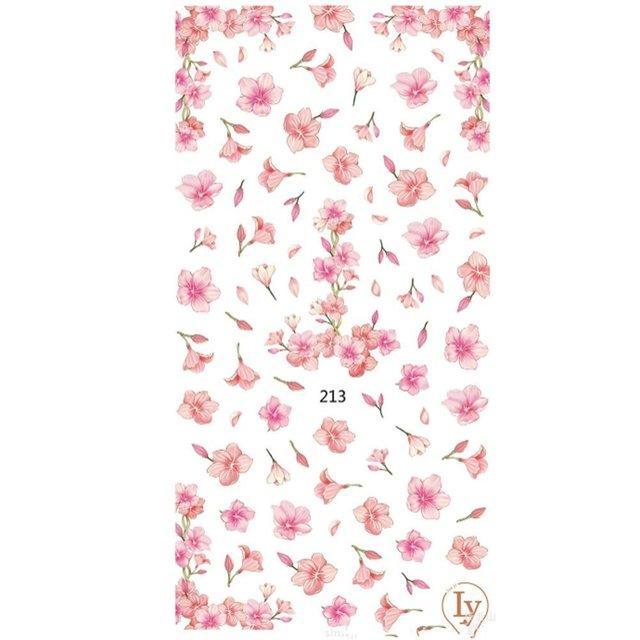 桜 フラワー 花 パターン 3Dシール