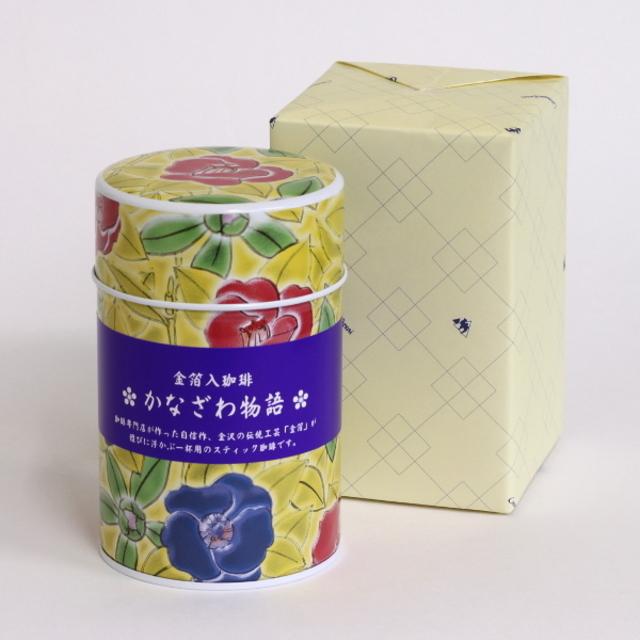金箔入りインスタントコーヒーかなざわ物語・缶入ギフト GK001