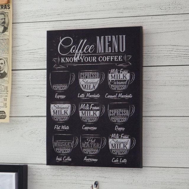 キャンバスポスター 黒板風(カフェ)