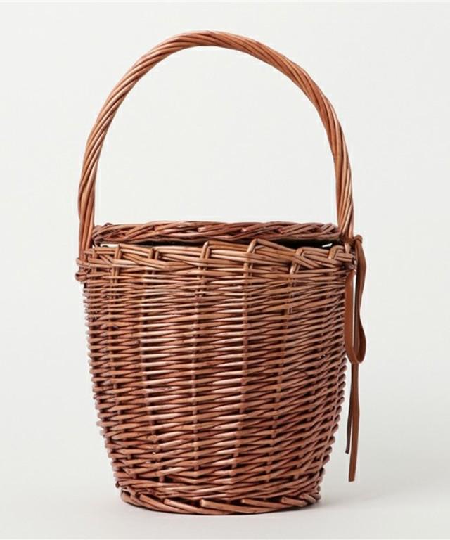 ラタン素材バスケットバッグ