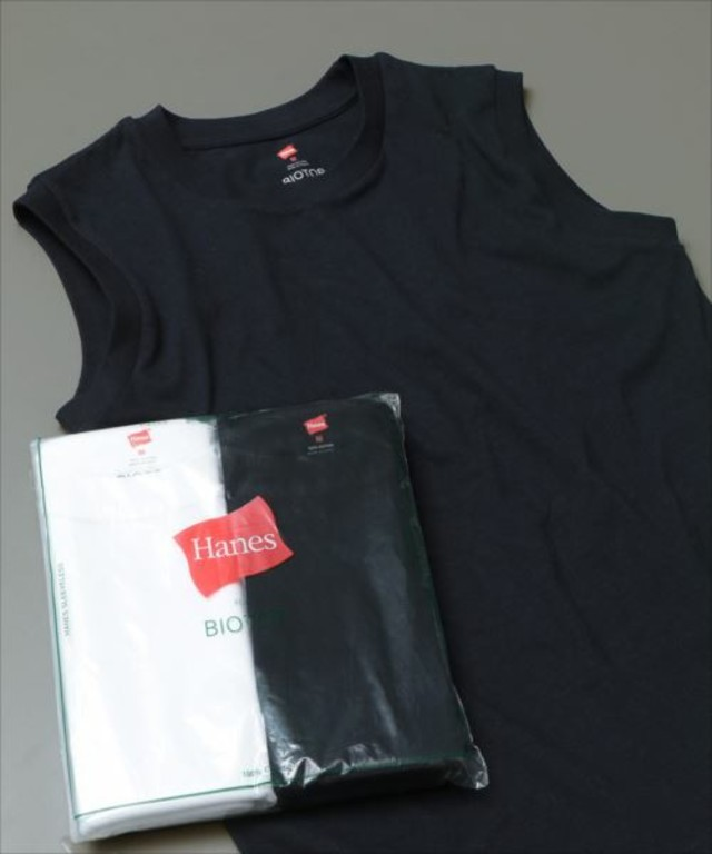 Hanes FOR BIOTOP Sleeveless T-Shirts 2color