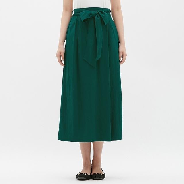 カットソーウエストリボンロングスカート