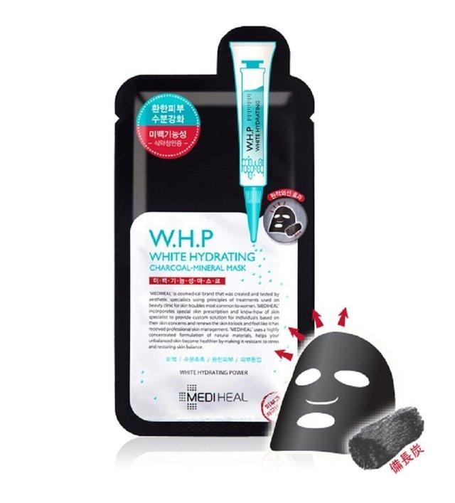 W.H.P 美白水分 ミネラル 炭 マスクパック 10枚