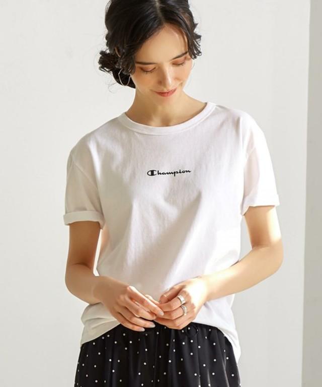 SC Champion×GL フロントロゴ Tシャツ