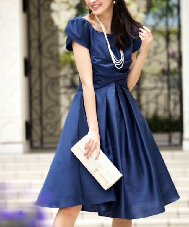 足長効果抜群スタイル美人の幸福ワンピースドレス