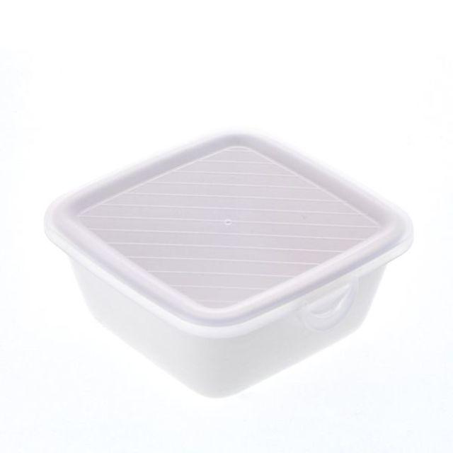 そのまま保存食器 角(小) ホワイト