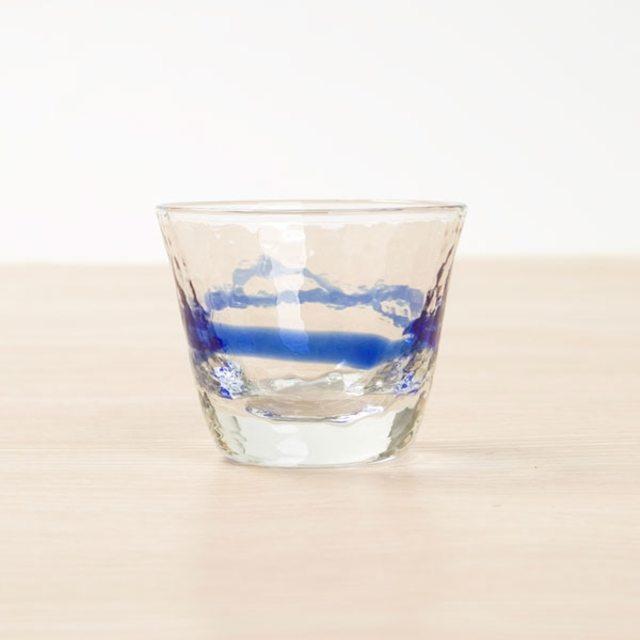 手作りガラス 冷酒盃ブルー(GDB02/LB/BR)