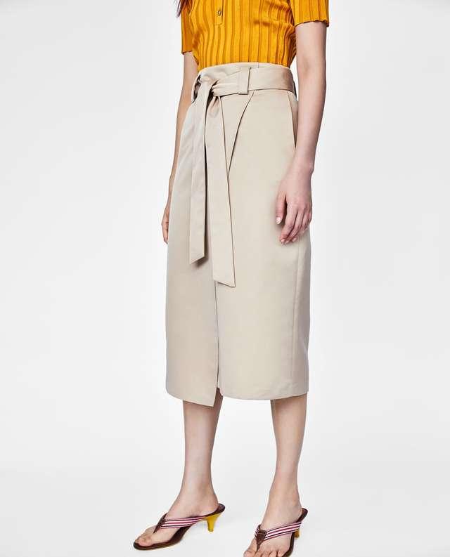 リボンディテール付きサロンスカート