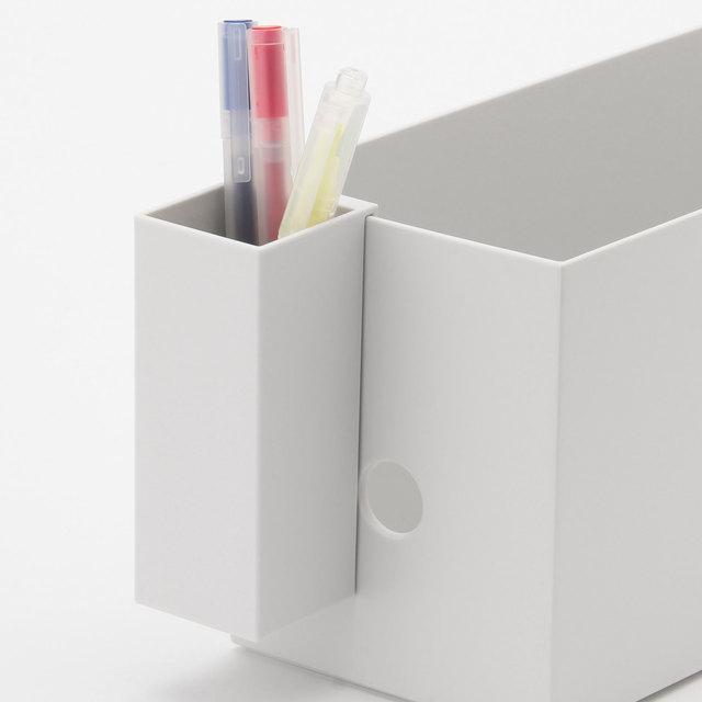 ポリプロピレンファイルボックス用・ペンポケット 約幅40×奥行40×高さ100mm