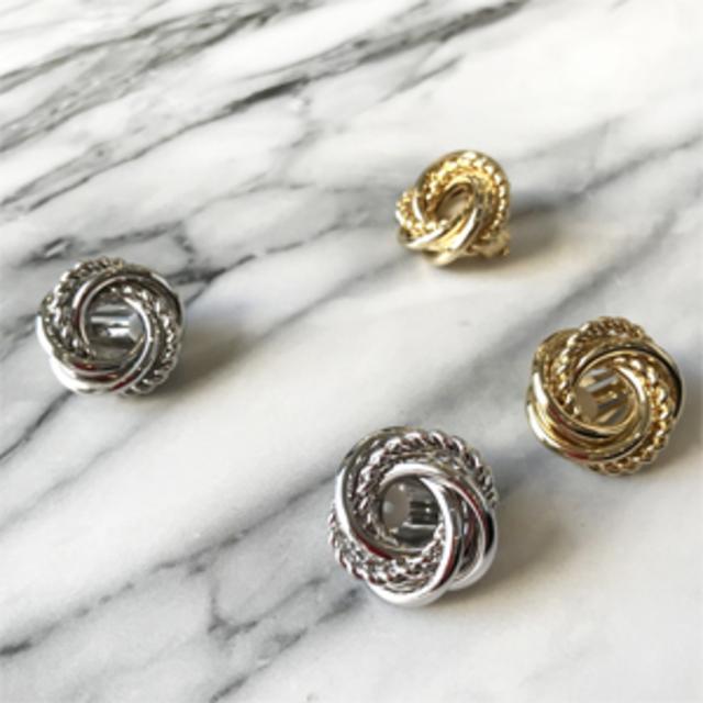 Twist ring earring