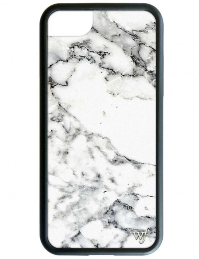 【iPhone6/7/8兼用】wildflower Marble iPhoneケース ワイルドフラワー