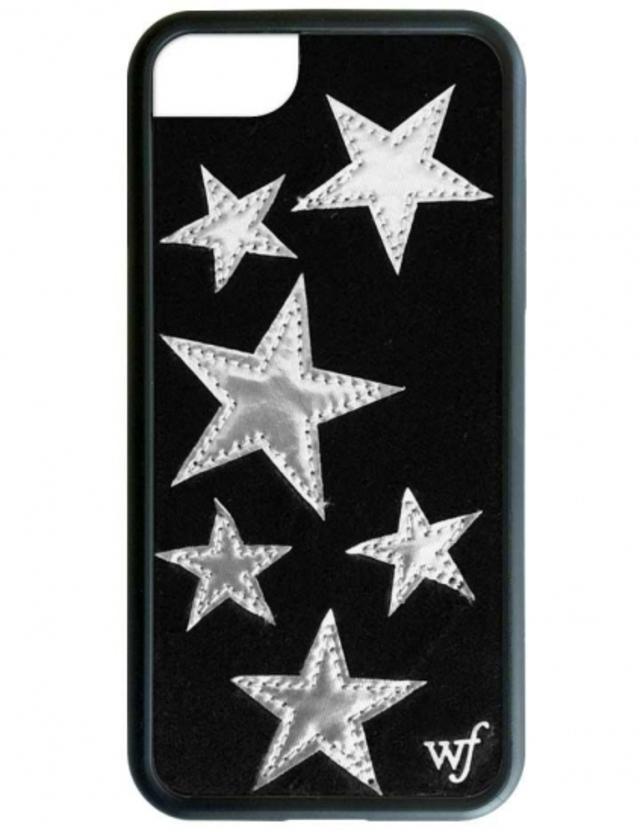 wildflower Black Velvet Silver Star iPhone6/6sケース ワイルドフラワー