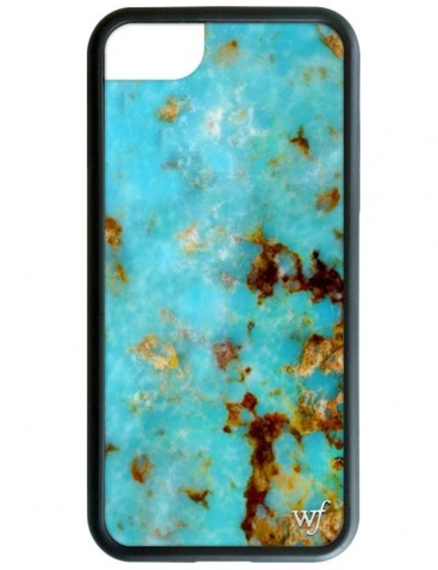 【iPhone6/7/8兼用】wildflower ターコイズ iPhoneケース ワイルドフラワー