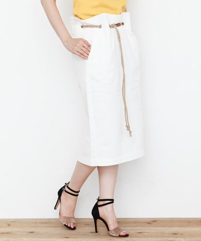 ロープベルト付きタイトスカート