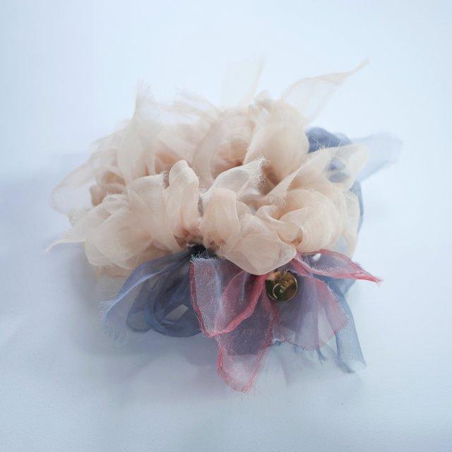 Basic~彩る咲き編みシュシュ