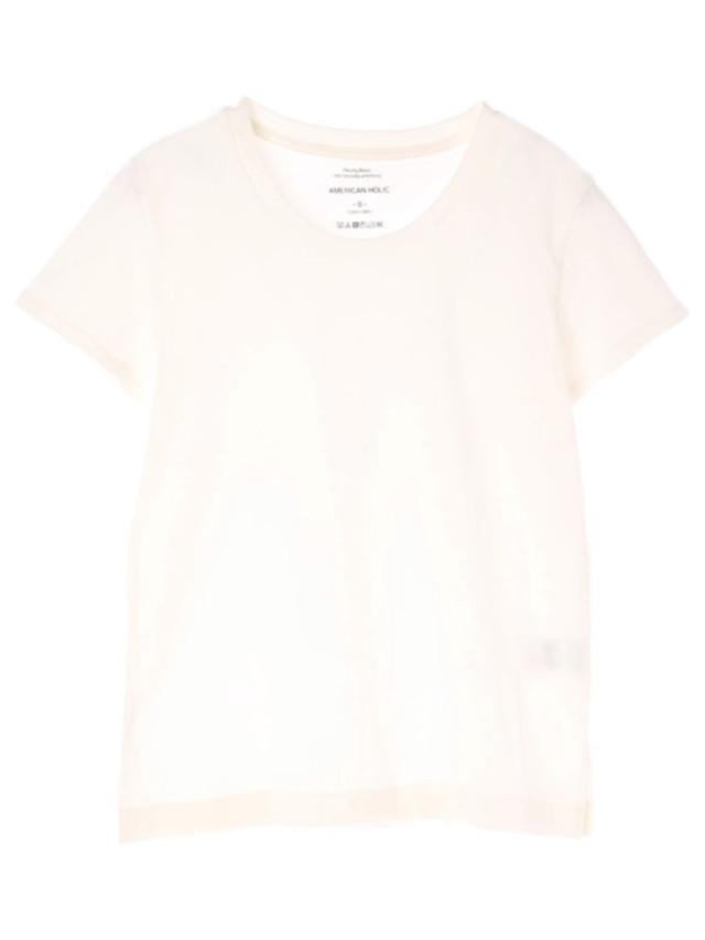 【Domani7月号掲載】【LEE6月号掲載】・12col.ベーシッククルーネックTシャツ