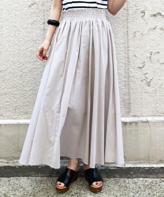 綿/麻ボイルワッシャーマキシスカート