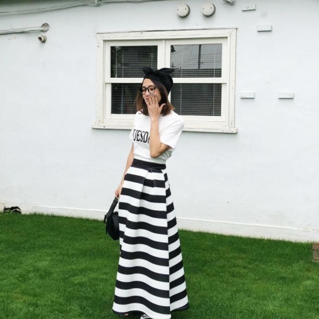 ボーダーLGスカート