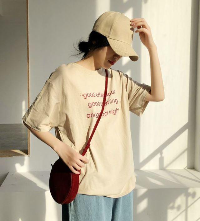 bigシルエット ロゴTシャツ