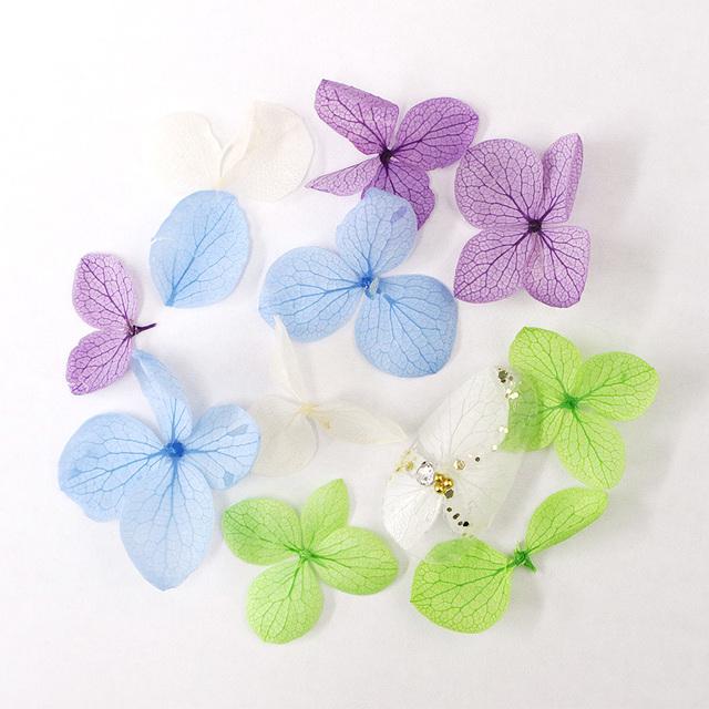 押し花ネイル ドライフラワー 紫陽花