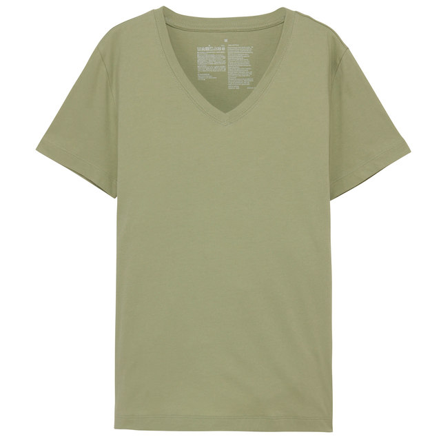 オーガニックコットンVネック半袖Tシャツ