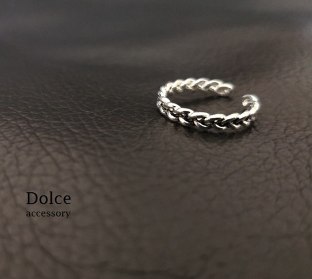 silver knit ring